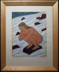 Contemporary Modernism Wi Nature River Native American Painting Charles Munch