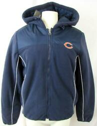 Chicago Bears Womens Small Embroidered Full Zip Hooded Fleece Jacket Abea 259