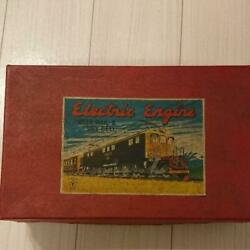 Vintage Locomotive Electric Engine With Rail And Dry Cell Tin Toy Collectible Fs