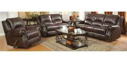 3-Pc Traditional Reclining Sofa Set in Brown [ID 3756761]