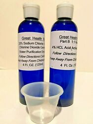 Water Purification Drops Part A And Part B Hcl Solution 8oz Total Best Price