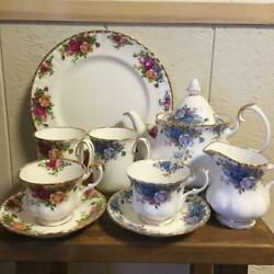 Royal Albert 7 Piece Set Vintage Tea Time Genuine Collectible Rare F/s From Jpn
