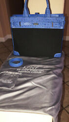 KPNY DESIGNER OSTRICH TOKYO BLUE DOLLY BAG   - Rare Discontinued