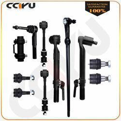 11pcs Front Suspension Kit Ball Joint Outer Tie Rod End For 05 -07 Ford F-250