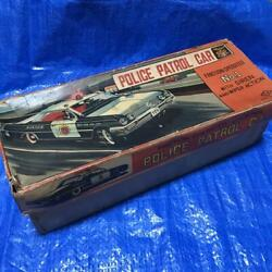 Nomura Toy Vintage American Police Car Retro Tin Toy Made In Japan Free Shipping