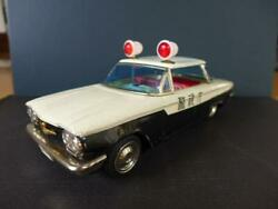 P.d Patrol Tin Car Japan Made Toy 1960s Retro Police Rare Vintage F/s From Japan