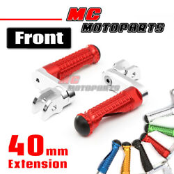 Cnc 40mm Mpro Front Foot Pegs Footrest For Rsv4 Rsv1000r Tuono 1000 Shiver 750