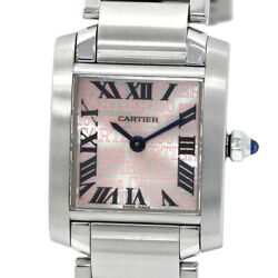 Cartier Watch Tank Francaise SM 2007 Christmas limited Authentic W51035Q3 fine