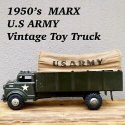U.s Army Vintage Toy Track 1950's Marx From Japan F/s
