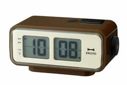 BRUNO LCD Retro Digital Alarm Clock S Brown BCR003-BR japan