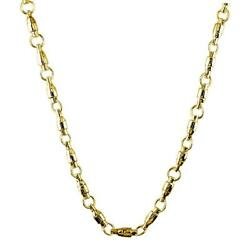 4mm Size Fishing Swivel Chain In 14k Yellow Gold 22 Inches Long