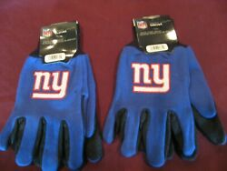 Two Pair Of New York Giants Sport Utility Gloves From Forever Collectables
