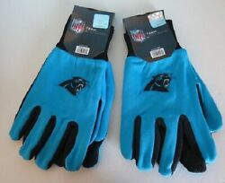 Two Pair Of Carolina Panthers Sport Utility Gloves From Forever Collectables