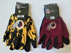 Two Pair Of Washington Redskins Sport Utility Gloves From Forever Collectables