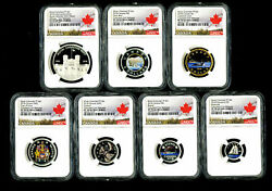 2018 Canada Pure Silver Proof Coin Set. Ngc Graded Pf-70 Ultra Cameo