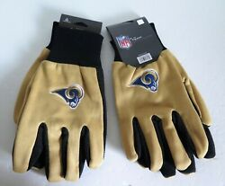Two Pair Of Los Angeles Rams Sport Utility Gloves From Forever Collectables
