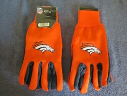 Two Pair Of Denver Broncos Sport Utility Gloves From Forever Collectables