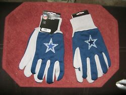 Two Pair Of Dallas Cowboys Sport Utility Gloves From Forever Collectables