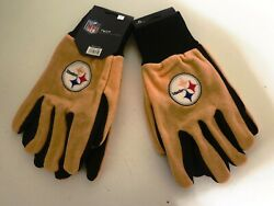 Two Pair Of Pittsburgh Steelers Sport Utility Gloves From Forever Collectables