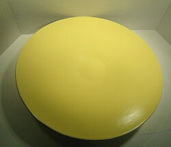Vintage Bauer Pottery Yellow Pedestal Footed Bowl
