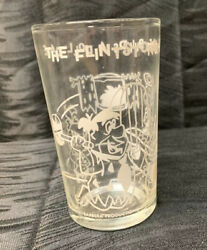Vtg. 1963 Flintstones Fred Builds A Doll Cave Pebbles Glass Drink Jelly Collect