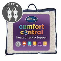Silentnight Comfort Control Heated Teddy Topper Electric Dual Double King Super