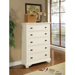 Chest Of Drawers Clothes Storage Bedroom White Dresser Decor Organizer Furniture