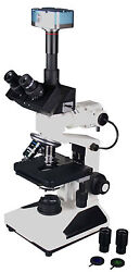 Reflected And Transmitted Light Medical And Material Microscope W Camera Hls Ehs