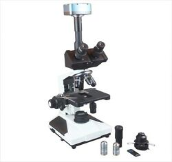 Medical Trinocular Microscope Phase Contrast W 9 Mp Camera And Measuring Software