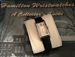 Hamilton Mens Or Womans 14k White Gold Curvex Watch With Diamond Dial