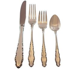 English Provincial Reed And Barton Sterling Silver Flatware Set Service 30 Pcs New