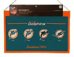 Miami Dolphins Nfl Large 22x14 Banner Featuring Logos From 1974,1989,1997,2013