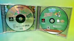 Tiny Toon Lot Great Beanstalk + Pluckyand039s Big Adventure Playstation 1 2 Ps1 Ps2