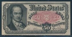 Fr1381 Var 5th Issue 50c Fractional Currency Partial Plate On Reverse Bv302