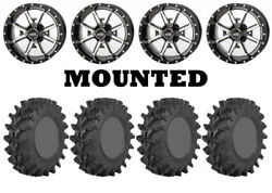 Kit 4 Sti Outback Max Tires 32x9.5-14/32x10-14 On Frontline 556 Machined H700