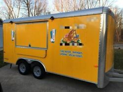 Used Turnkey 2015 8' x 16' Cargo Craft Expedition Ice Cream Concession Trailer f