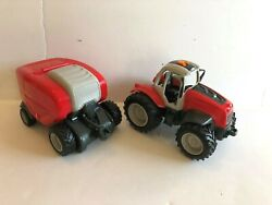 Toy State Industrial Electronic Tractor Trailer Lights Moving Wheels Set Harvest