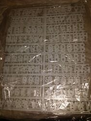 6 Sheets-new White 1 Menu- Message Lunch-board -letters And Numbers- And - Cents