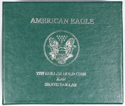 American Ten Dollar 1/4 Oz Gold And Silver Eagle Gift Case With Caps No Coins
