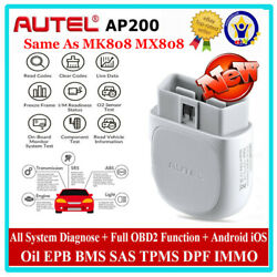 Autel Ap200 Bluetooth Scanner Obd2 Full System Diagnostic Android Ios Immo Tpms