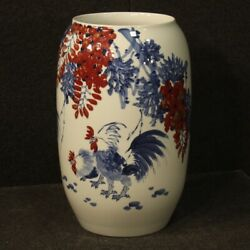 Vase Chinese Cup In Painted Ceramic Antique Style Oriental Flowers Animals