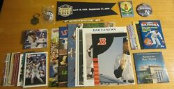 New York Yankees Lot Of Collectible Items Mlb Baseball Keychains, Pins, Cards+++