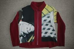 Issey Miyake Size L Multicolor Mens Pleated Blouson Jacket Unused Free Shipping