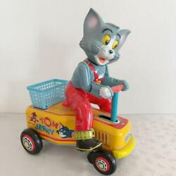 Tom And Jerry Hand Car Tinplate Toy 1960s Vintage From Japan F/s