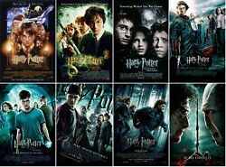 Harry Potter Movie Poster Collection   Set Of 8   New   Usa   Free Shipping