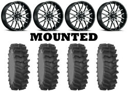 Kit 4 System 3 Xm310r Tires 35x9-20 On Itp Hurricane Machined Wheels Ter