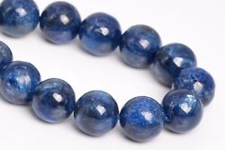 10mm Genuine Natural Deep Color Kyanite Beads Grade A Round Loose Beads 7.5