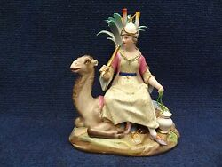 Meissen Continent Group Asia Lady On A Camel Near Palm Tree 1860-80 Collectable