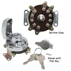 Mid Usa 15031 Chrome 6 Post Ignition Switch 1936-1995 Harley Big Twin 71505-73t