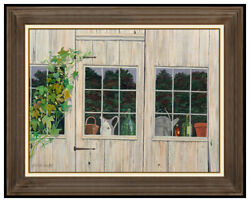 Gladys Nelson Smith Original Oil Painting On Canvas Signed Still Life Framed Art